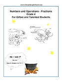 Grade 4 - Numbers and Operations Fractions for Gifted and Talented Students CSS