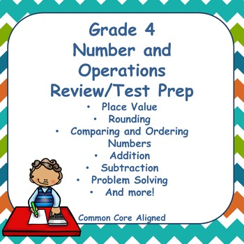 Fourth Grade Numbers and Operations Review/Test Prep