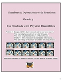 Grade 4-Numbers and Operations with Fractions- Students w/ Physical Disabilities