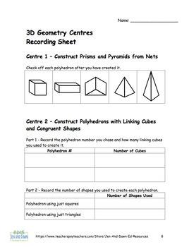 Grade 4 Ontario Math 3D Geometry Centres