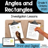 2D and 3D Geometry - Angles (Grade 4 Math Investigation)