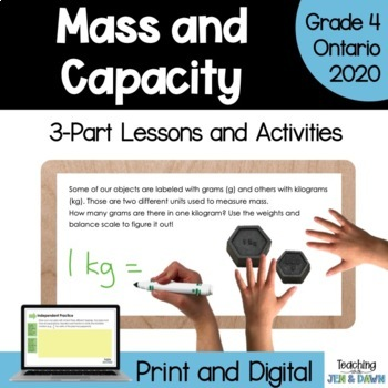 Grade 4 Math Mass and Capacity Measurement Activity