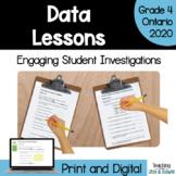 Grade 4 Ontario Math Mode and Median Investigation