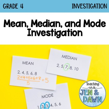 Grade 4 Ontario Math Mode and Median Investigation
