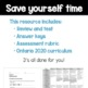 Grade 4 Ontario Math Patterning Review, Test, and Rubric