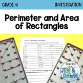 Grade 4 Ontario Math Perimeter and Area of Rectangles Investigation