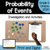 Grade 4 Ontario Math Probability Games