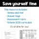 Grade 4 Ontario Math Probability Review, Task, Quiz, and Rubrics