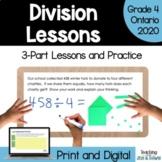 Grade 4 Ontario Math Three Part Lesson Division