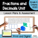 Fractions - COMPLETE UNIT (Grade 4 Ontario Math Three Part Lesson)