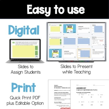 Grade 4 Ontario Math Three Part Lesson Multiplication