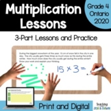 Multiplication and Division - Multiplication (Grade 4 Math Three Part Lesson)