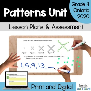 Grade 4 Ontario Math Three Part Lesson Patterning Complete Unit