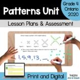 Patterning - COMPLETE UNIT (Grade 4 Ontario Math Three Par
