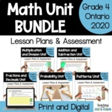 Grade 4 Ontario Math Units Bundle