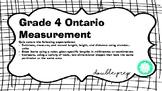 Grade 4 Ontario Measurement Quiz