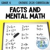 Multiplication and Division - Mental Math Strategies Investigation (Grade 4)