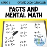 Grade 4 Ontario Multiplication and Division Mental Math In