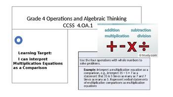 Grade 4 CCSS 4.OA.1  Mini-Lesson and Guided Practice