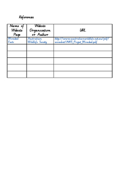 Grade 4 Organism Profile Research Booklet