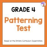 Grade 4 Patterning Test
