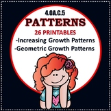 Increasing Growth Patterns and Geometric Patterns