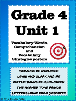 Grade 4 Unit 1 Reading Vocabulary Word Wall Words
