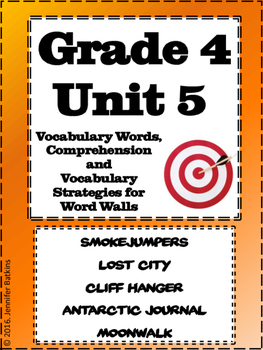 Grade 4 Unit 5 Reading Vocabulary Word Wall Words