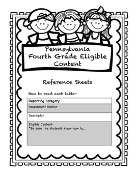 Grade 4 Pennsylvania Math and ELA Standards- A Handy, Dandy Reference Guide