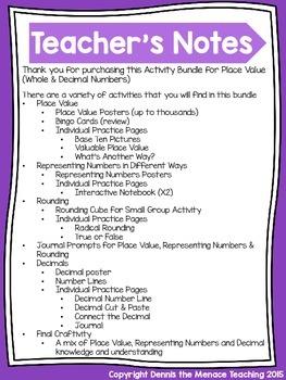 Grade 4 Place Value Activity Bundle! (Ontario Curriculum)