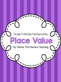 Grade 4 Place Value Activity Bundle! (Ontario Curriculum)