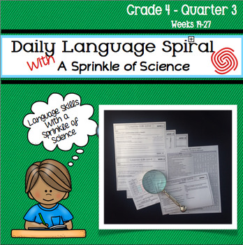 Daily Language Skills Spiral With a Sprinkle of Science - Grade 4 Quarter 3