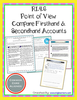 Grade 4 RI.4.6 - (Point of View) Analyzing Firsthand and Secondhand Accounts