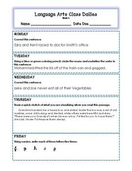Grade 4 Reading & English Language Arts Dailies: 32 Weeks of ELA Review Tasks