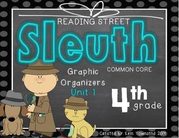 Grade 4 Reading Street SLEUTH Unit 1 Week 1 FREEBIE