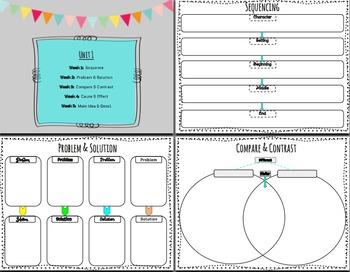 Grade 4 Reading Wonders Graphic Organizers
