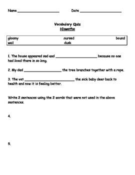 Grade 4 Ready Gen Hiawatha (book) vocabulary & quizzes