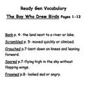 Grade 4 Ready Gen The Boy Who Drew Birds vocab & quizzes
