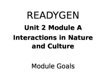 Grade 4 ReadyGen Unit 2 Module A