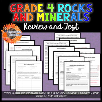 Grade 4 Rocks and Minerals Review and Test