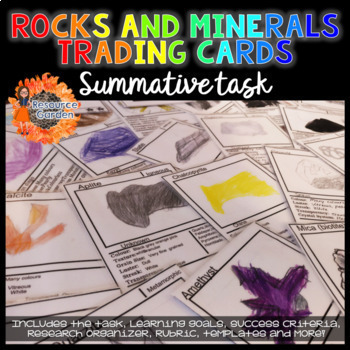 Rocks and Minerals Trading Cards Summative Task