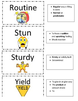 Grade 4 Sadlier's Vocabulary Workshop Flashcards Unit 4