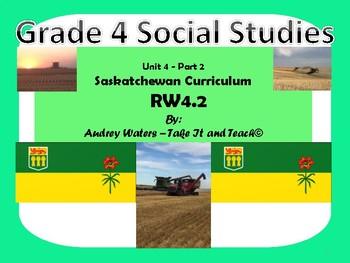 Grade 4 Saskatchewan Social Studies - Unit 4 Part 2 RW 4.2
