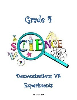 Grade 4 - Science Fair Demo or Experiment?