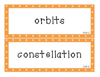 Grade 4 Science Fusion Vocabulary Cards