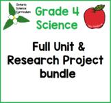Grade 4 Science Habitats Unit & Research Project Bundle, G