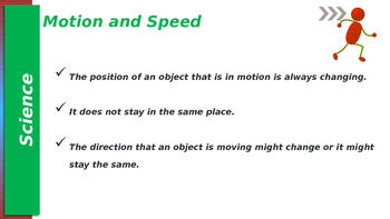 Grade 4 Science Motion & Speed