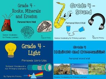 Grade 4 Science - Personal Word Wall BUNDLE