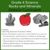 Grade 4 Science - Rocks and Minerals Unit - Ontario Curriculum
