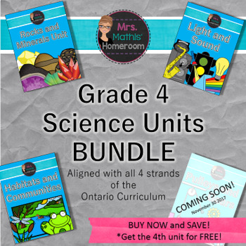 Grade 4 Science Units Bundle, Aligned with Ontario Curriculum